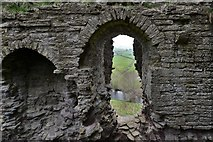 SO2980 : Clun Castle remains: Great Tower detail 1 by Michael Garlick