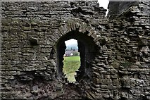 SO2980 : Clun Castle remains: Great Tower detail 2 by Michael Garlick