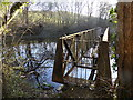 SN6672 : Sluice pier on a small reservoir, Coed Alltfedw by Rudi Winter