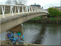 SJ8298 : Footbridge over the Irwell by Carroll Pierce