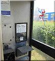 ST4184 : Inside a former BT phonebox, Church Row, Redwick by Jaggery