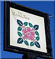 ST4184 : Rose Inn name sign, Redwick by Jaggery