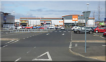NS3174 : Port Glasgow retail Park by Thomas Nugent