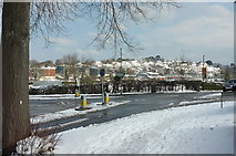 SX9065 : Top of Old Woods Hill, Torquay, in the snow by Derek Harper