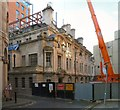SJ8498 : Construction at the Stock Exchange by Gerald England