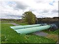 SE3041 : Pipes below Eccup Dam (1) by Stephen Craven