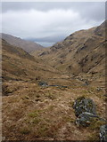 NG8801 : Long view down Gleann Unndalain by Richard Law