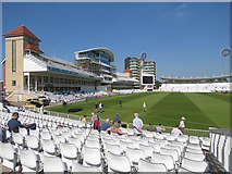 SK5838 : Trent Bridge Cricket Ground: the changed Radcliffe Road End by John Sutton