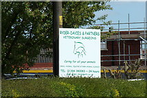 TM2649 : Ryder Davies & Partners Veterinary Surgeons sign by Geographer