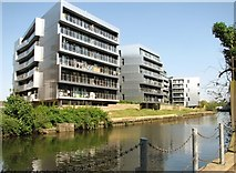 TG2407 : Modern blocks of flats beside the River Wensum by Evelyn Simak