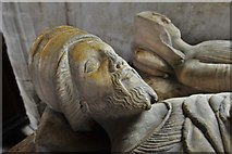 SO3958 : Pembridge, St. Mary the Virgin Church: c14th 'Gour' tomb bearing four effigies 2 by Michael Garlick