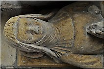 SO3958 : Pembridge, St. Mary the Virgin Church: c14th 'Gour' tomb bearing four effigies 7 by Michael Garlick