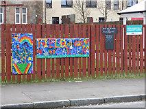 NS5564 : Ibrox Flower Field Community Garden by Thomas Nugent