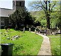 SO2508 : Path to St Peter's Parish Church, Blaenavon by Jaggery