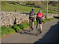 SD9771 : Cyclists on the back lane from Kettlewell to Conistone by Stephen Craven