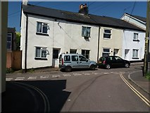 ST0107 : Cullompton: terrace in Shortlands Lane by Martin Bodman