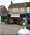 ST1596 : OG Barbershop and The Grapevine, High Street, Fleur-de-lis by Jaggery