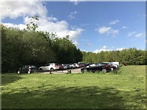 SJ8545 : Car park at the north end of Lyme Valley Park by Jonathan Hutchins