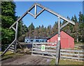 NH6453 : Munlochy Forestry Commission Buildings by valenta
