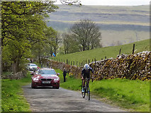 SD9772 : Tour de Yorkshire - leader of the pack by Stephen Craven
