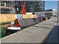TQ2681 : Roger, narrowboat in Paddington basin by David Hawgood