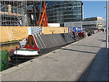 TQ2681 : Roger, narrowboat in Paddington basin by David Hawgood