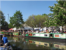 TQ2681 : Ben Gorton and Pickles Folly narrowboats, Little Venice Canalway Cavalcade by David Hawgood