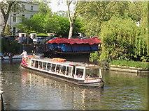 TQ2681 : Gardenia, passenger narrowboat, Little Venice Canalway Cavalcade by David Hawgood