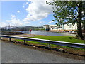 J0825 : The Albert Basin and Quays Shopping Centre from the entrance to the Newry Greenway by Eric Jones