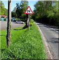 SO1823 : Warning sign - bends on the A479 ahead, Cwmdu, Powys by Jaggery
