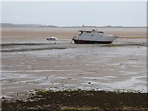SD1678 : Boats on the sand banks at Haverigg by Oliver Dixon