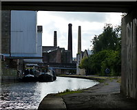 SE1437 : Chimneys overlooking the Leeds and Liverpool Canal by Mat Fascione