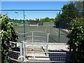 SK2132 : Footpath by the tennis courts by Ian Calderwood