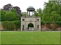 SJ5409 : Carriage entrance archway at Attingham Hall by Graham Hogg
