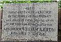 ST1596 : Inscription dated 1950 facing Victoria Road, Fleur-de-lis by Jaggery