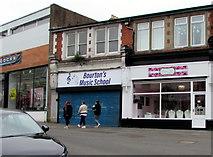 ST1599 : Bourton's Music School in Bargoed by Jaggery