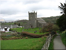 SD3598 : St Michael and All Angels church, Hawkshead by David Purchase