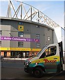 TG2407 : Parked by the Aviva Community Stand by Evelyn Simak