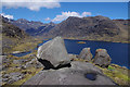 NG4919 : Boulders above Loch Coruisk by Ian Taylor