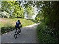 SU0470 : Cyclist on byway, Cherhill by Vieve Forward