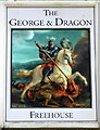 TR1759 : The George and Dragon pub sign, Fordwich by pam fray