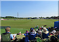SK5566 : Welbeck CC: enjoying the sun by John Sutton