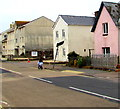 SY2589 : Pink house, Harbour Road, Seaton by Jaggery