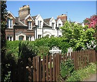 TG2407 : The Railway Cottages (Cozens Road) by Evelyn Simak