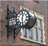 TG2407 : The Gothic Works in Hardy Road - memorial clock by Evelyn Simak