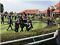 TL6262 : Del Parco in the parade ring at Newmarket's Rowley Mile racecourse by Richard Humphrey