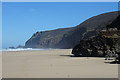 SW6949 : Beach at Chapel Porth by Anne Burgess