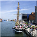 J3474 : Tall ship 'Pelican' at Belfast by Rossographer