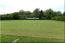 TM3569 : Peasenhall & Sibton Bowling Green by Geographer