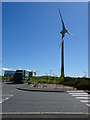 SW9962 : Lorry Park and Turbine by Anne Burgess